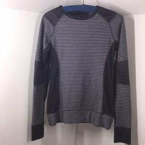 Mondetta athletic long sleeve striped top